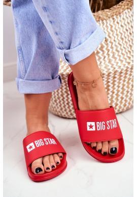 Módne červené šľapky pre dámy Big Star