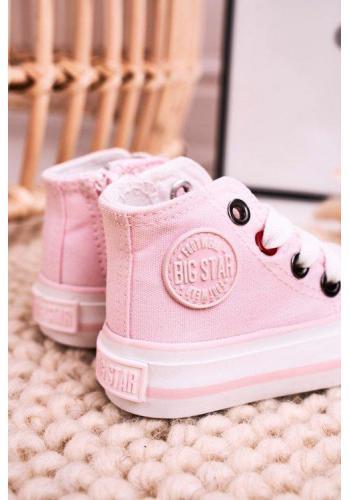 Ružové vysoké tenisky Big Star pre dievčatká