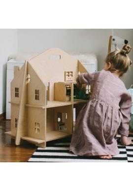 Drevený detský domček pre bábiky