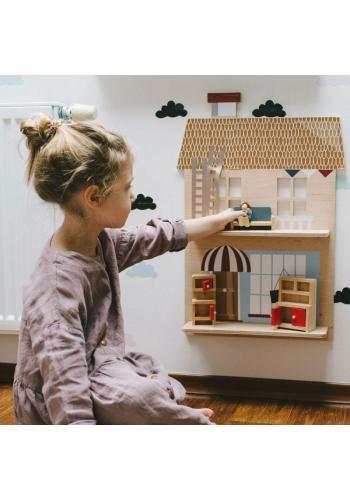 Detská drevená polička - Môj domček