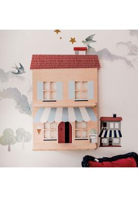 Detská drevená polička - Môj talianský domček