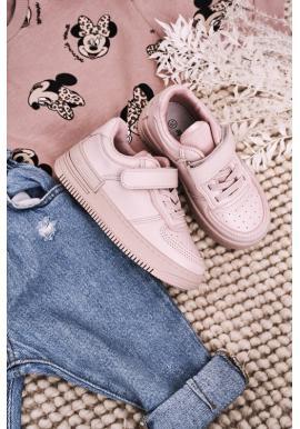 Dievčenské štýlové tenisky v ružovej farbe