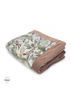 Teplá zamatová deka pre deti s motívom ornitológie