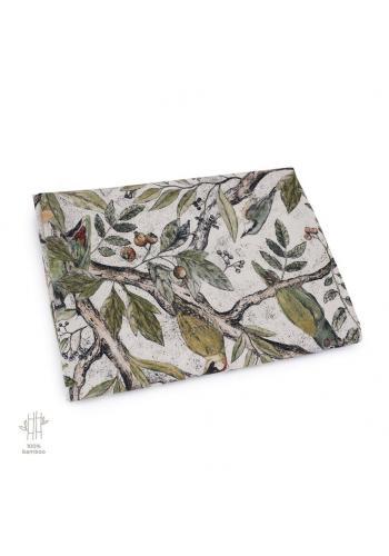 Bambusová deka na leto s motívom ornitológie