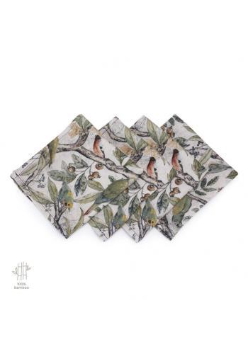 Bambusové plienky s motívom ornitológie