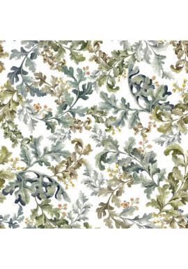 Biela tapeta s motívom listov z tropického raja