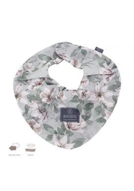Obojstranný zamatový šál s vintage kvetmi