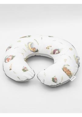 Dojčiaci vankúš na kŕmenie v tvare C - Forest Moments/ sivá