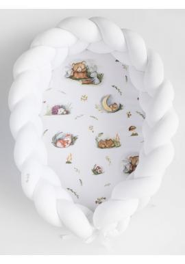 Uzlikové hniezdo PREMIUM 2 v 1 - biele / Forest Moments