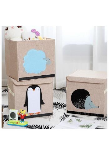 Kôš na hračky alebo bielizeň s nášivkou tučniaka