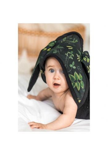 Detský mäkký uterák s bylinkovým motívom - 100% bambus