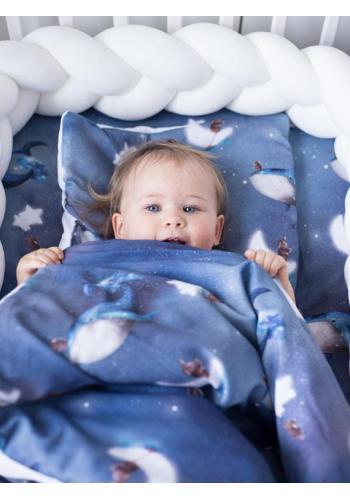 Bavlnená detská plachta s gumkou na posteľ s motívom oceánu
