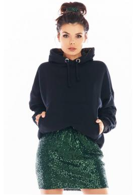 Zelená mini sukňa s flitrami pre dámy
