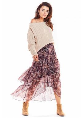 Farebná tylová sukňa so vzorom pre dámy