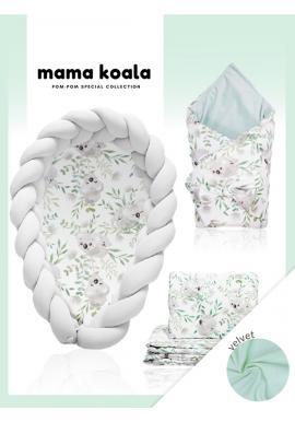 Výbava pre novorodenca Velvet 4v1 - Koala / sivá