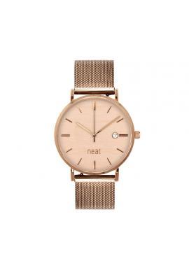 Módne dámske hodinky zlato-hnedej farby s kovovým remienkom