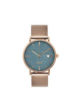Dámske módne hodinky s kovovým remienkom v zlato-béžovej farbe