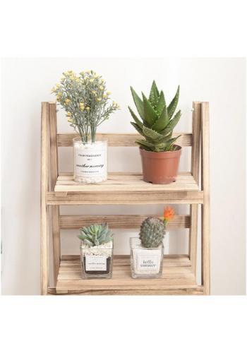Univerzálna drevená polica na knihy, kvety, hračky alebo doplnky
