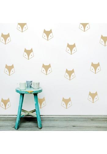 Nálepky s motívom líšky - 20 ks