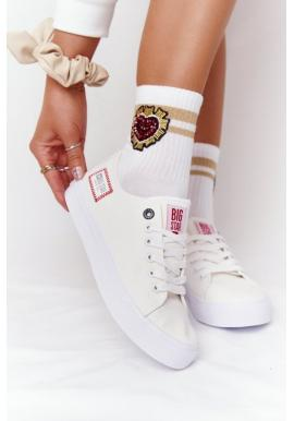 Štýlové dámske tenisky Big Star v bielej farbe