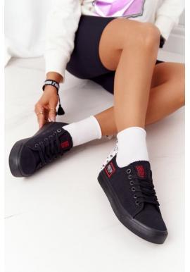 Dámske tenisky Big Star v čiernej farbe