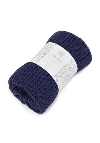Sivá pletená deka