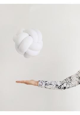 Uzlíkový vankúš v bielej farbe