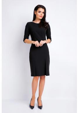 Dámske elegantné šaty čiernej farby s 3/4 rukávom