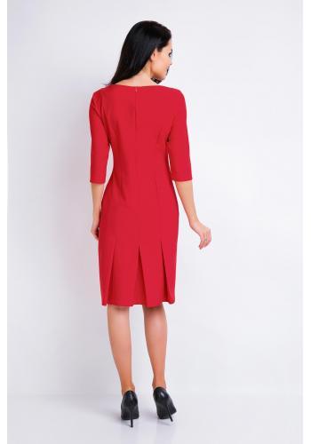Elegantné dámske šaty červenej farby