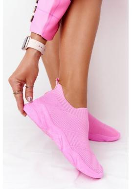Športove slip-on pre dámy v ružovej farbe