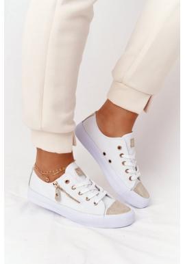 Módne tenisky pre dámy v bielej farbe