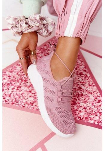 Trendy dámske tenisky v ružovej farbe