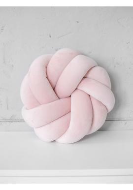 Uzlíkový vankúš Velvet v púdrovo ružovej farbe
