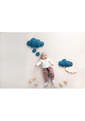 Štýlové detské tepláky staroružovej farby