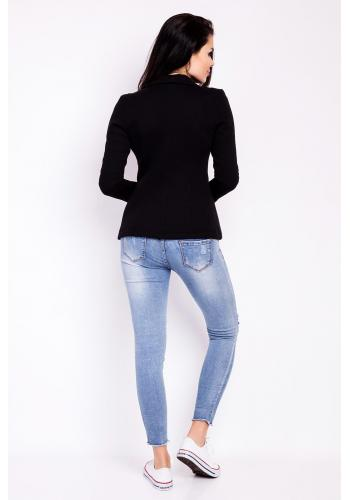Sako pre dámy v čiernej farbe s dlhým rukávom