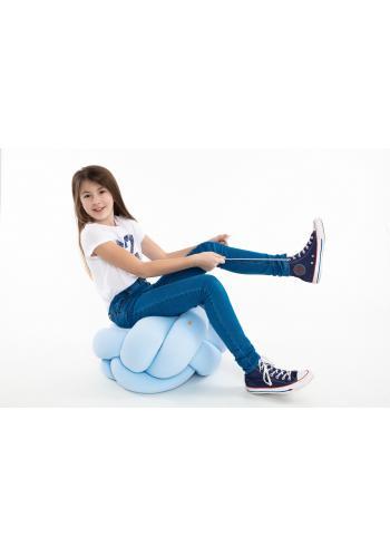 Svetlo modrý vankúš uzlík na sedenie