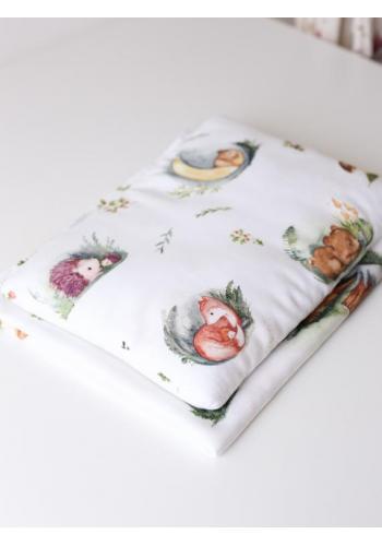 Bambusová deka na leto pre bábätka - Forest Moments (vankúš grátis)