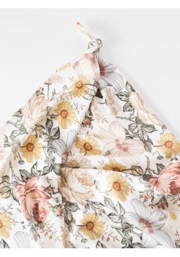 Bambusová deka pre bábätka - Vintage kvety (vankúš grátis)