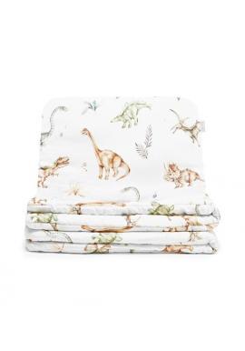 Sada bavlnených obliečok do postieľky s motívom dinosaurov