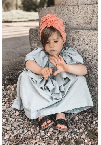 Módne detské sandálky v čiernej farbe