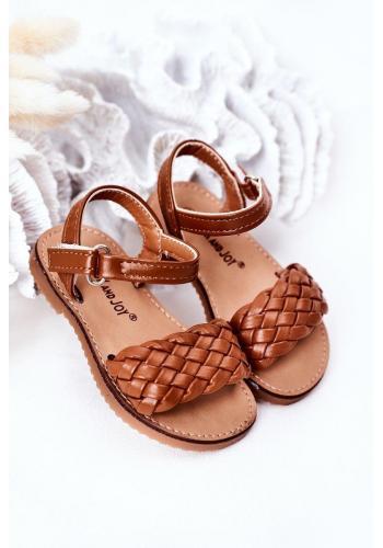 Detské sandálky v hnedej farbe