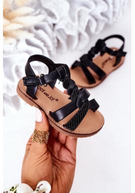 Trendy detské sandálky v čiernej farbe