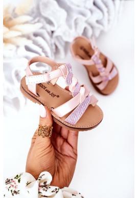 Detské sandálky v ružovej farbe
