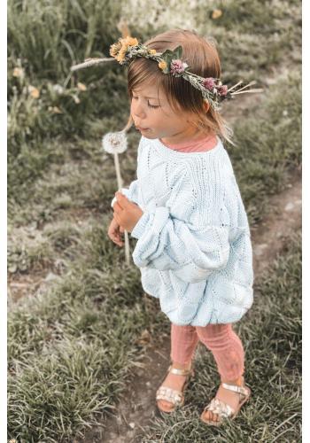 Trendy detské sandálky v zlatej farbe