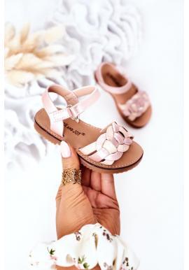 Módne detské sandálky v ružovej farbe