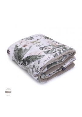 Zamatová teplá deka pre deti s motívom tropických vibrácií