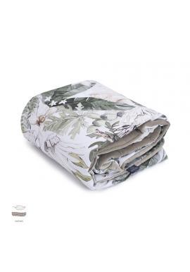 Detská zamatová tenká deka s motívom tropických vibrácií
