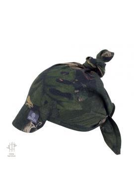 Viazaná šatka so šiltom s motívom detektívov z džungle - 100% bambus
