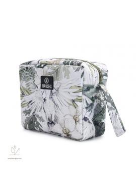 Vodeodolný kozmetický kufrík s motívom tropických vibrácií