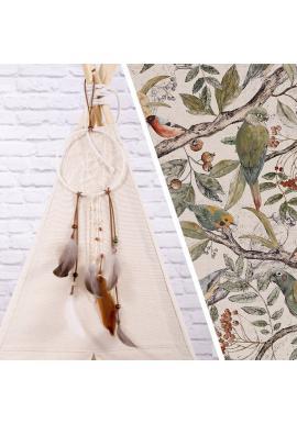 Teepee s motívom ornitológie pre deti